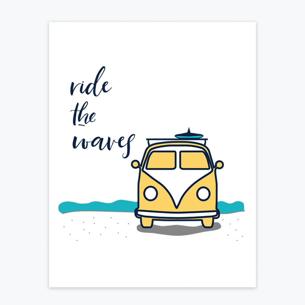 Art Print - Ride The Waves