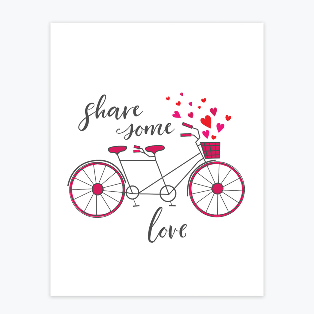Art Print - Share Some Love - Tandem For Two