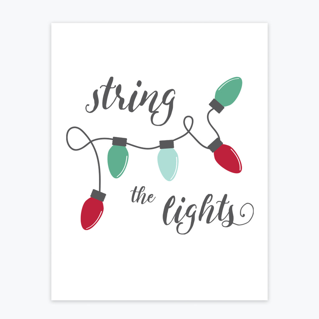 Art Print - String the Lights