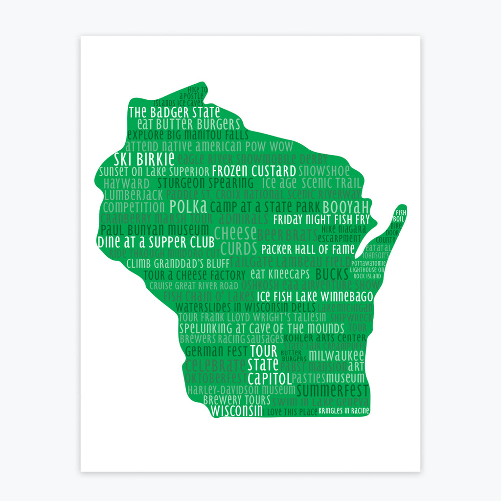 Art Print - Wisconsin Silhouette