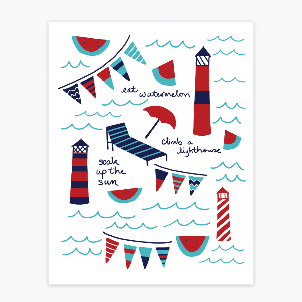 Art Print - Summer Lighthouses - Tandem For Two