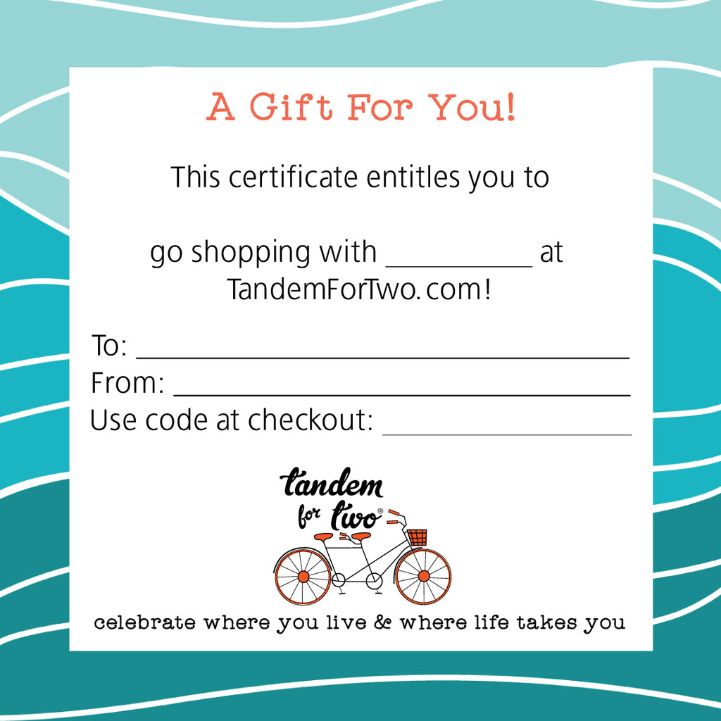 Gift Certificate - Tandem For Two