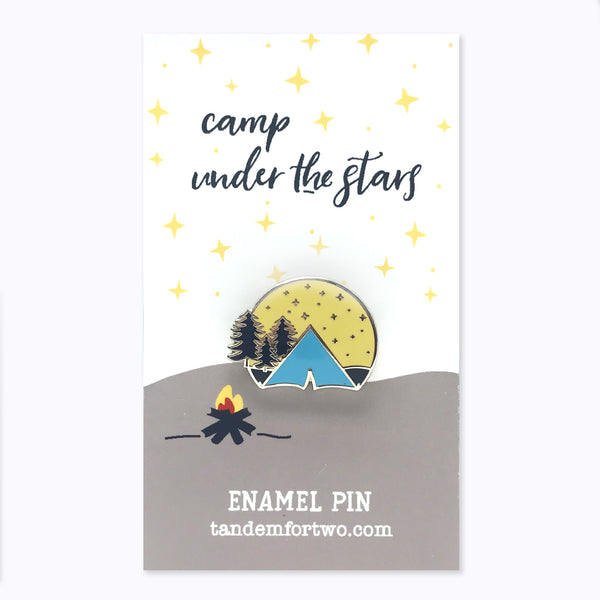 Enamel Pin - Camp Under the Stars