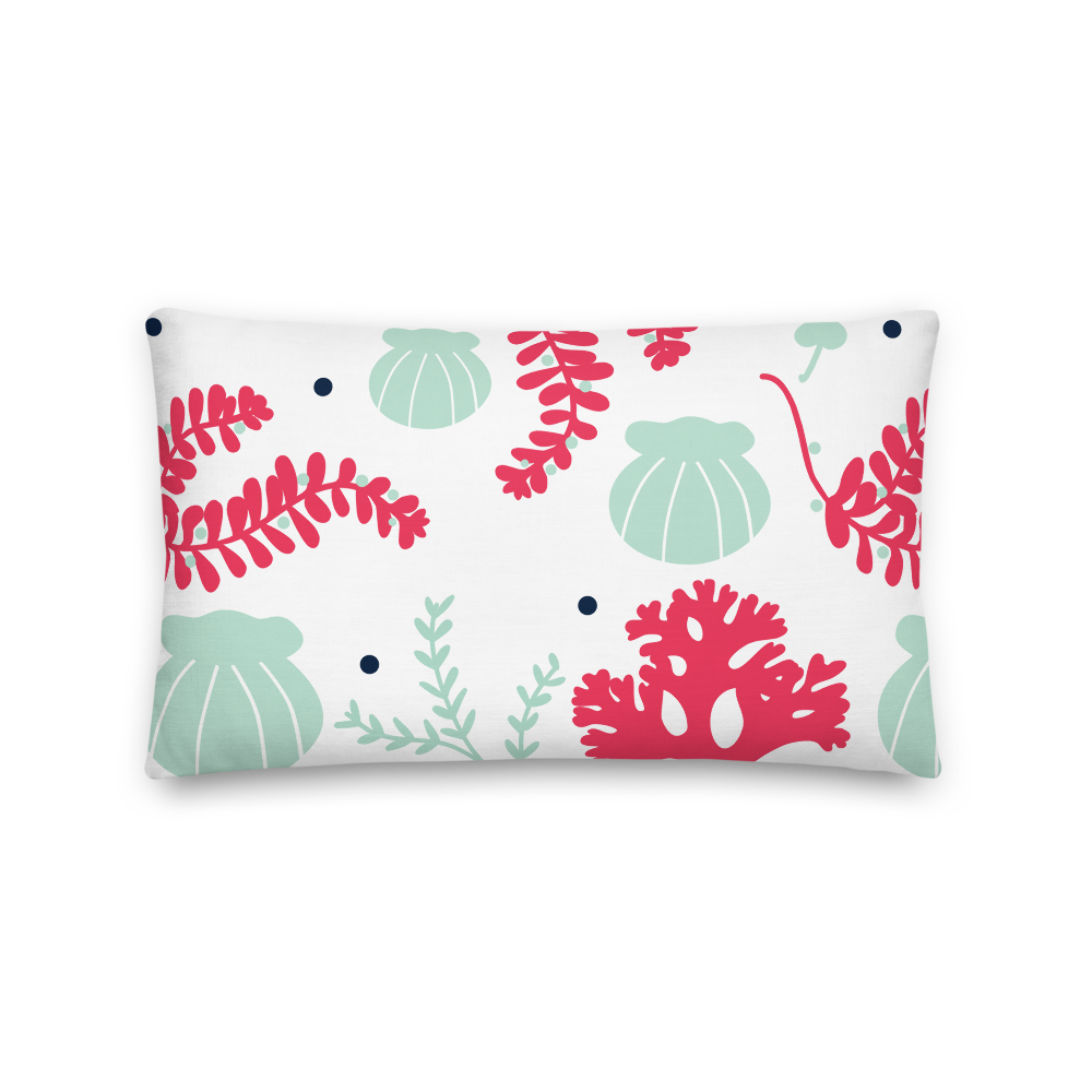 Pillow - Lumbar Shells & Seaweed - Tandem For Two