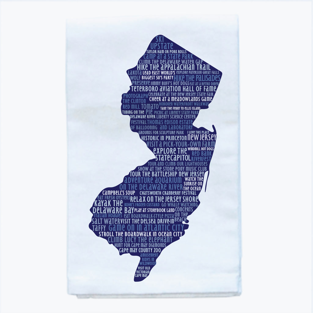 Tea Towel -  New Jersey Silhouette - Tandem For Two