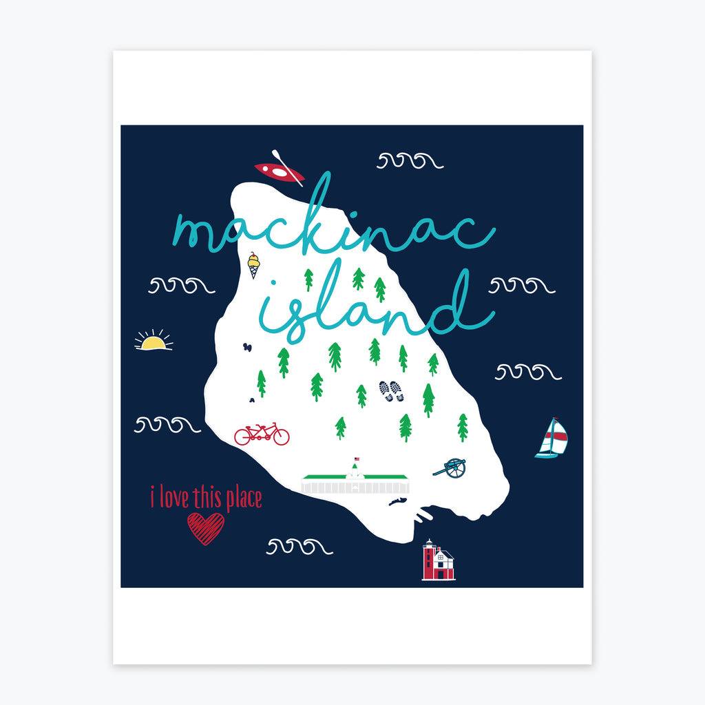 Art Print - Mackinac Island Icons