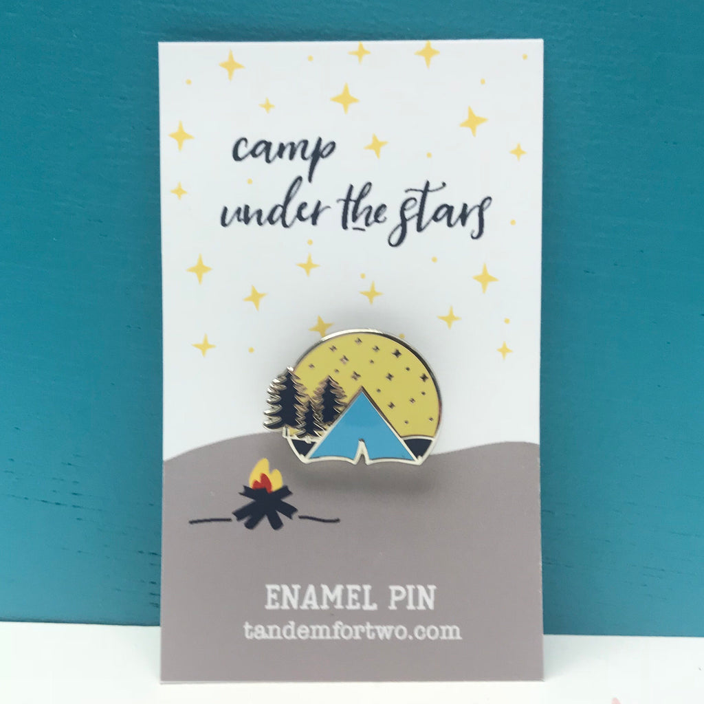 Enamel Pin - Camp Under the Stars - Tandem For Two