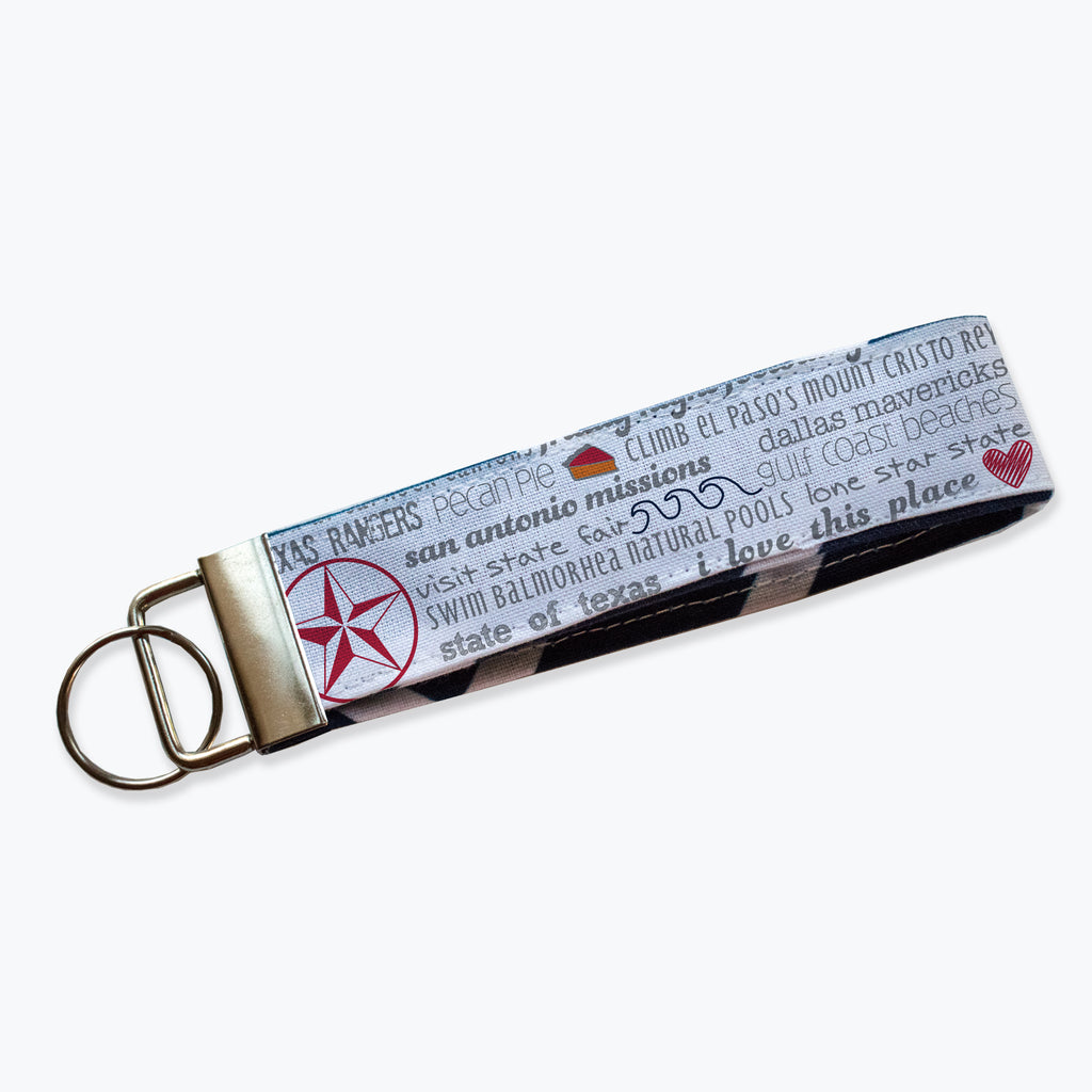 Key Fob / Key Chain - Texas Bucket List