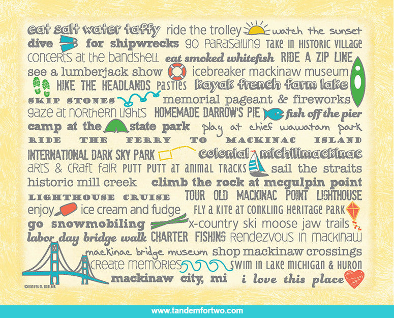 Mackinaw City Notecard