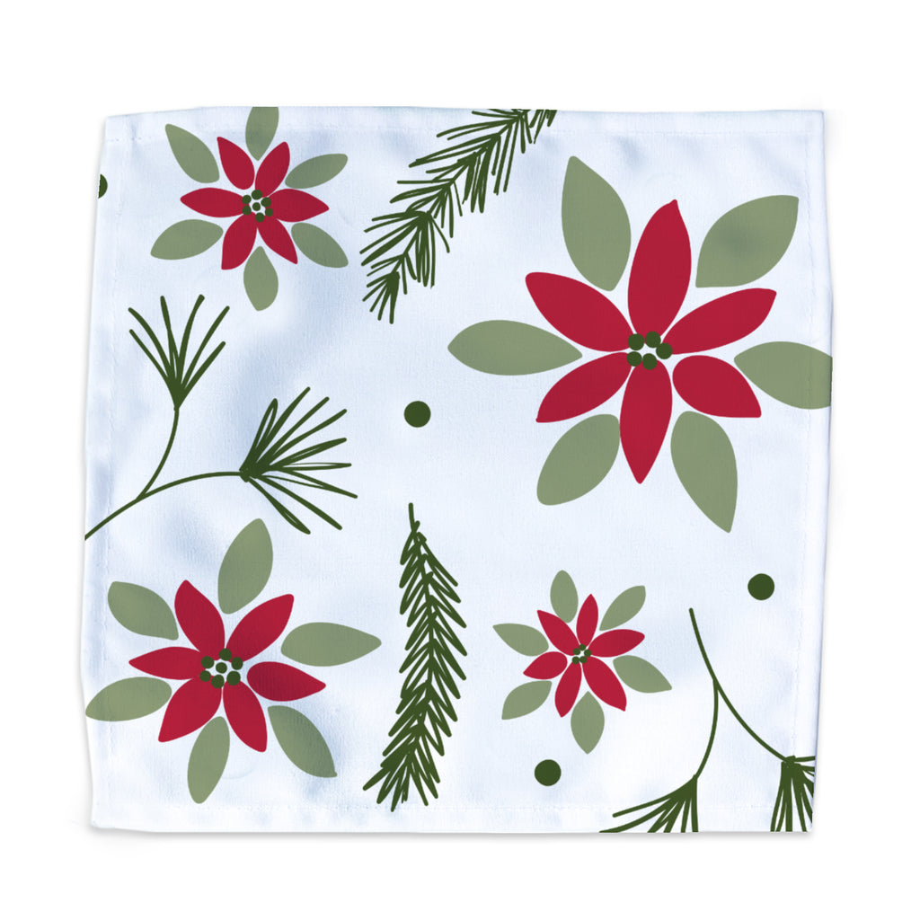 Dinner Napkin - Poinsettia & Pine - Tandem For Two