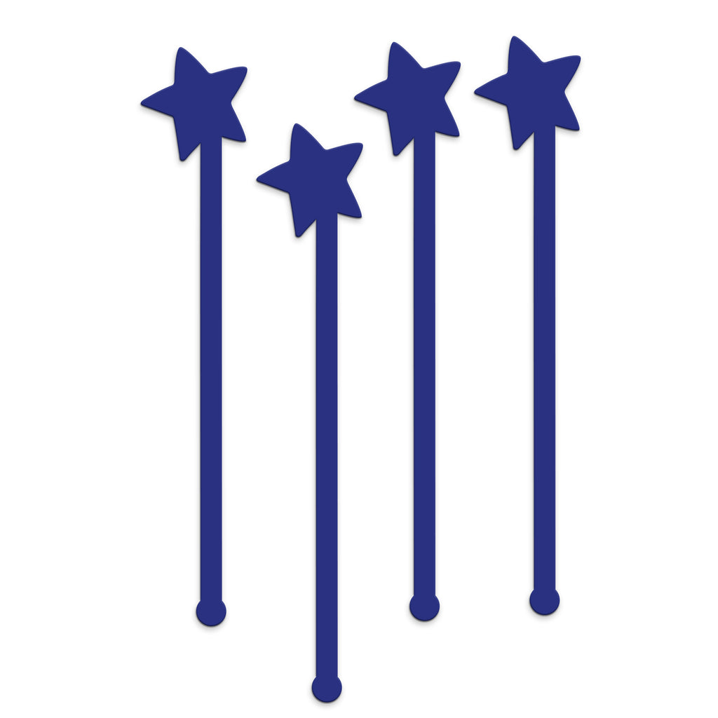 Swizzle Sticks - Stars & Light Set of 4 - Tandem For Two