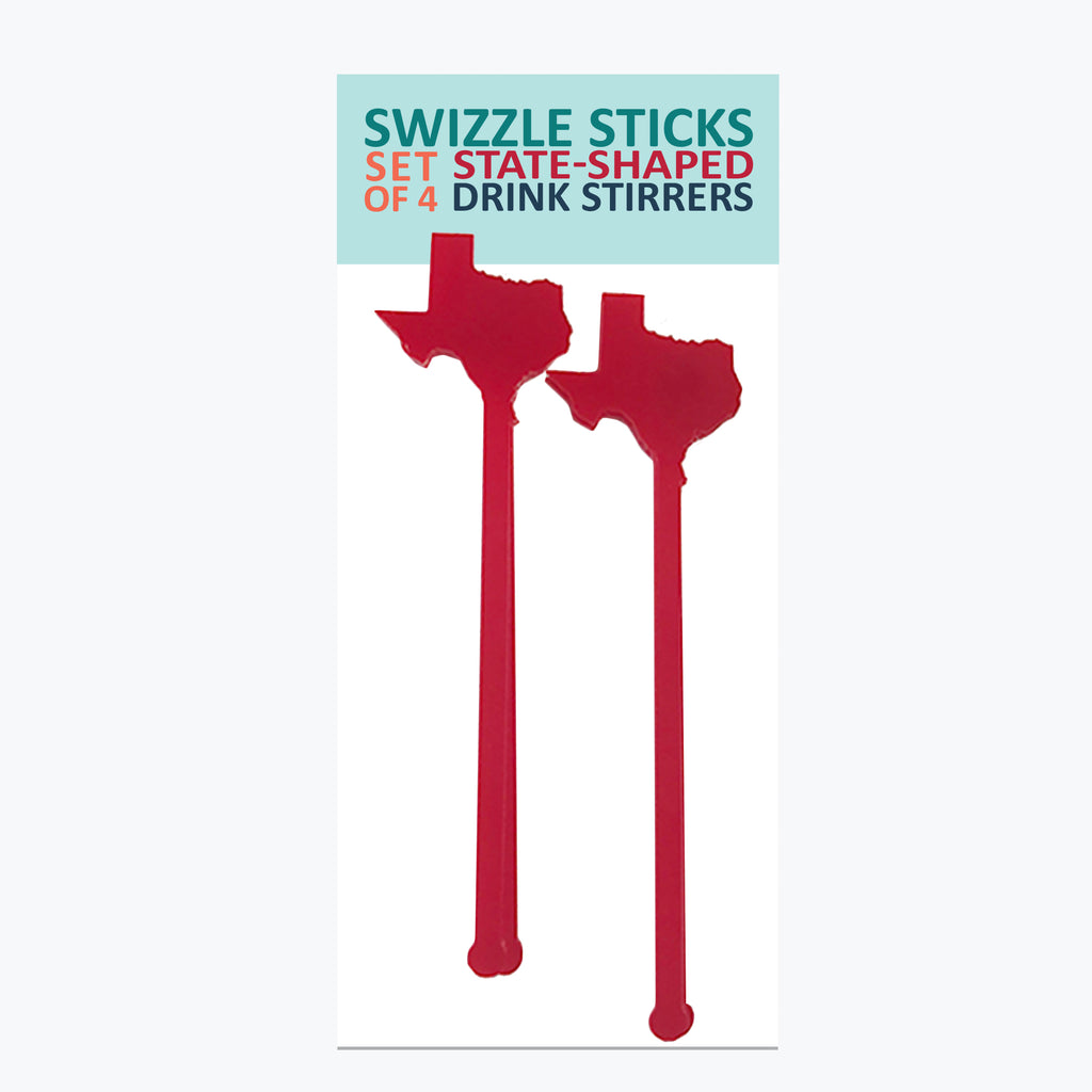 Swizzle Sticks - Texas Silhouette - Tandem For Two