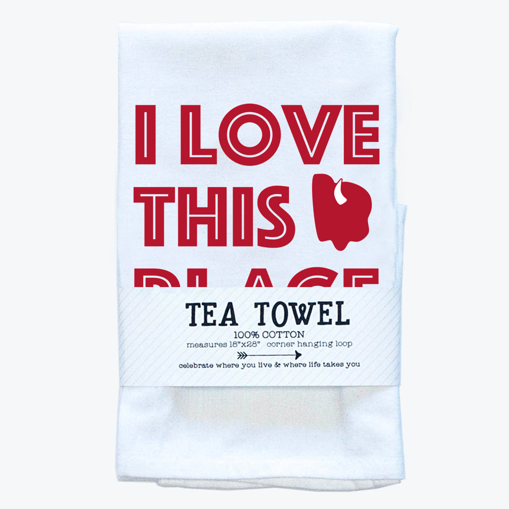 Tea Towel - I Love Buffalo - Tandem For Two