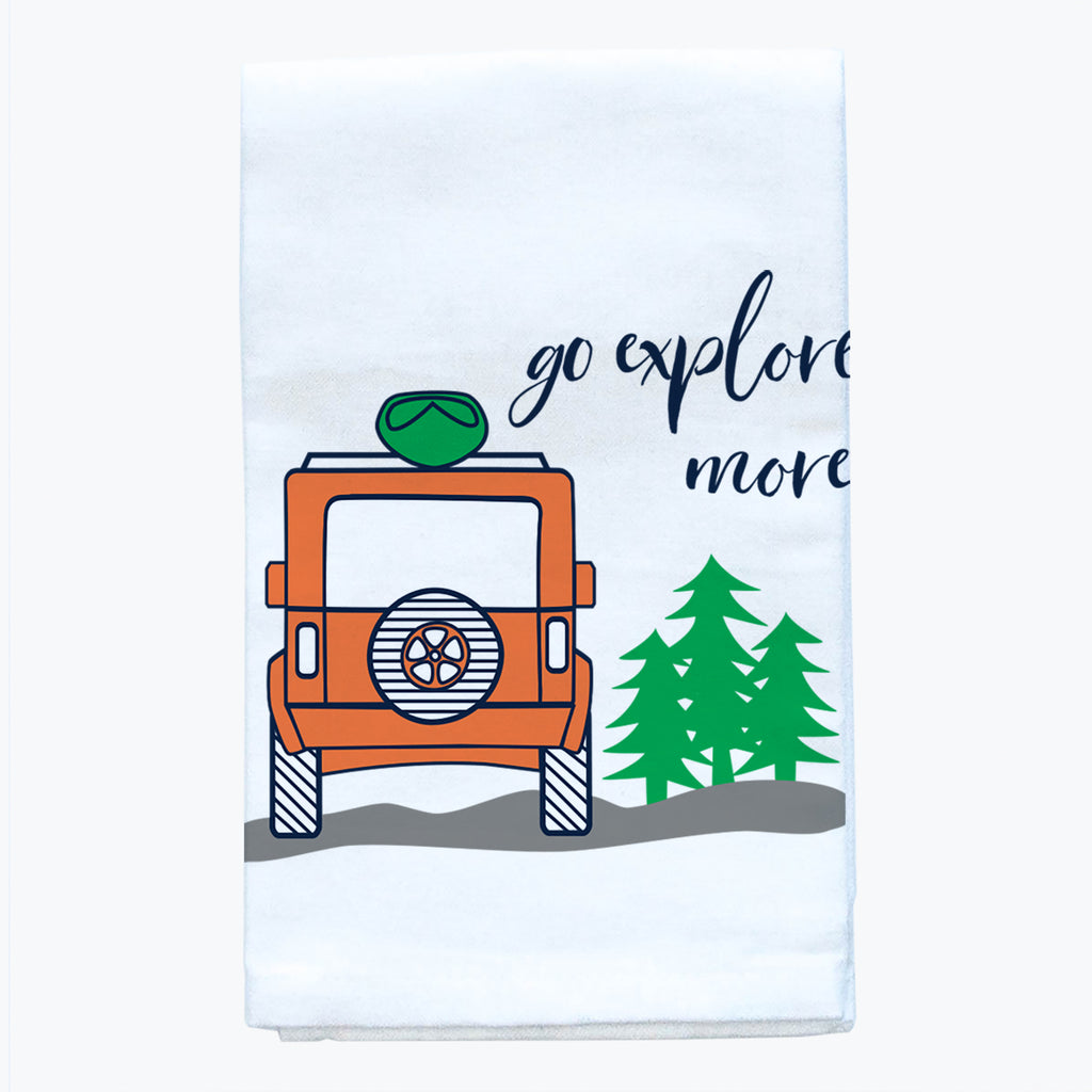 Tea Towel - Go Explore More - Tandem For Two