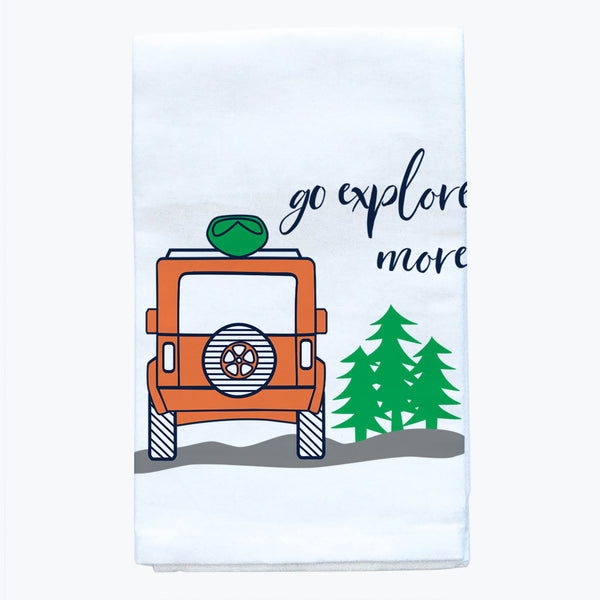 Tea Towel - Go Explore More