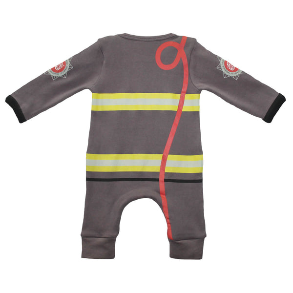 Fancy Dress Outfit - Fireman Baby Grow by Lazy Baby® - Lazy Baby