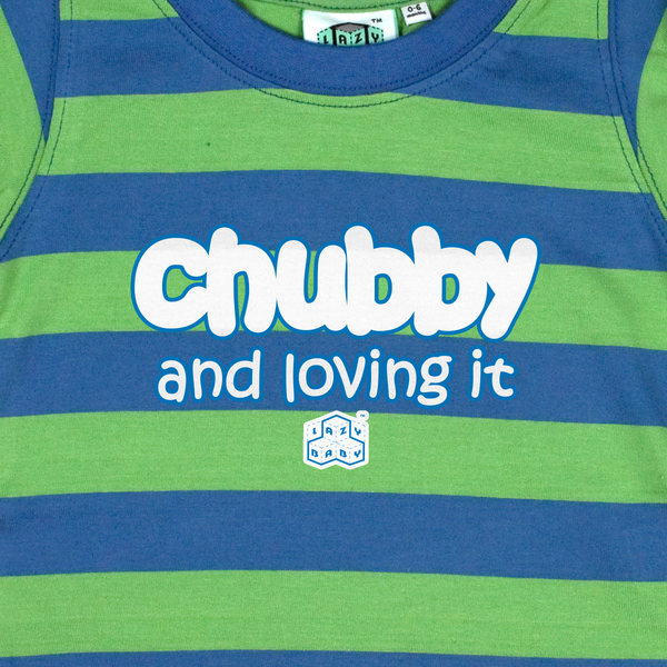 Newborn gift for baby boy Chubby and Loving It - Lazy Baby