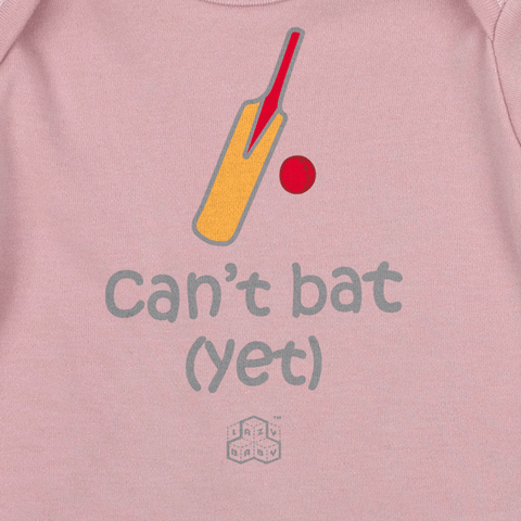 Newborn gift for cricket players - Can't bat Yet