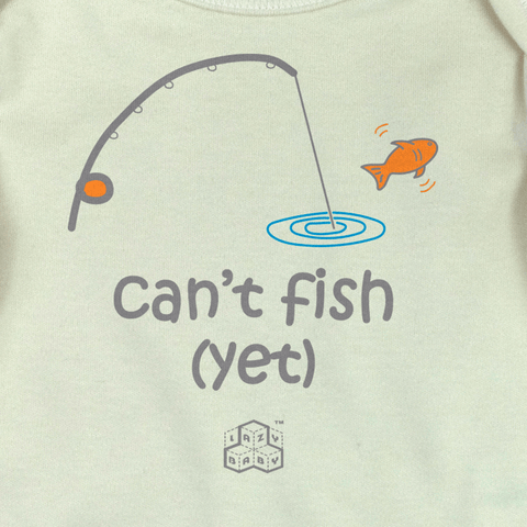Newborn gift for parents who fish - Can't fish Yet