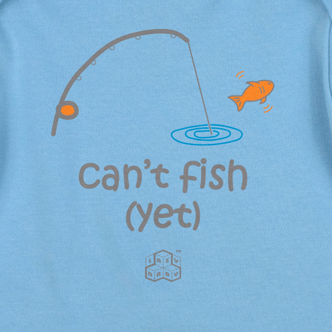 Newborn boy gift for parents who fish - Can't fish Yet
