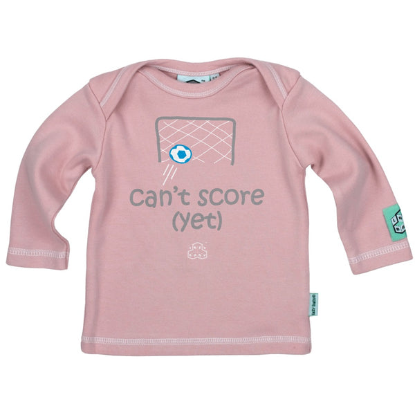 Newborn gift for footballers - Can't score yet - Lazy Baby