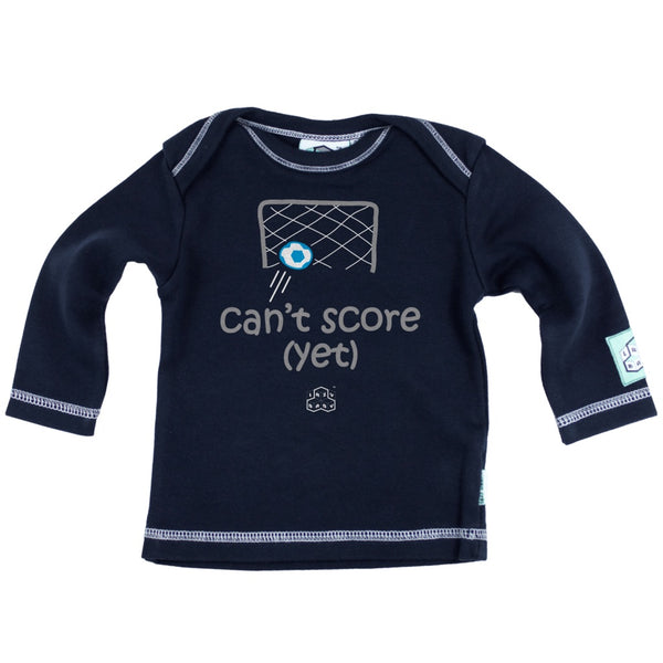 Newborn gift for footballers - Can't score yet