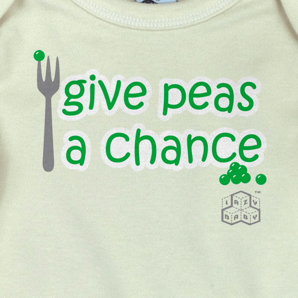 Lazy Baby Gift - Give Peas a Chance Long Sleeve T Shirt - Lazy Baby