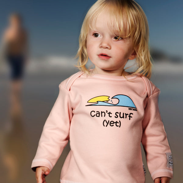 Newborn gift for baby  surfers - Can't surf yet - Lazy Baby