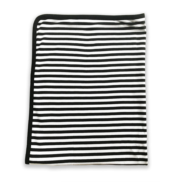 Lazy Baby Organic Cotton Black and White Blanket - Lazy Baby