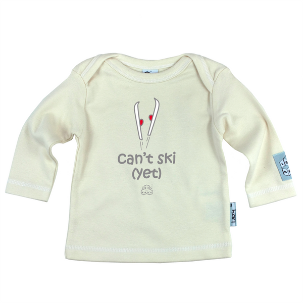 Newborn gift for Skiers - Can't ski yet