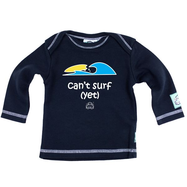 Newborn gift for baby boy surfers - Can't surf yet