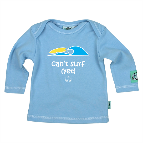 Newborn gift for baby boy surfers - Can't surf yet - Lazy Baby