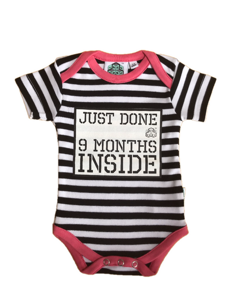 Baby Shower Gift-Just Done 9 Months Inside® Romper Bundle- Baby Girl - Lazy Baby