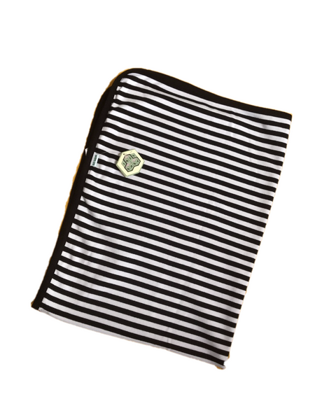Lazy Baby Organic Cotton Black and White Blanket