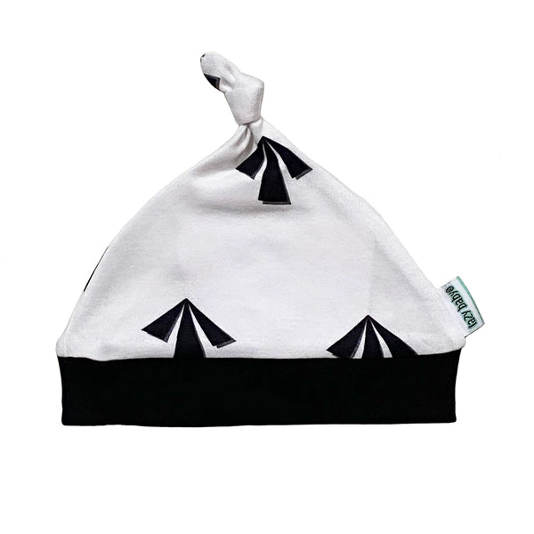 Lazy Baby Arrow Hat Black / White