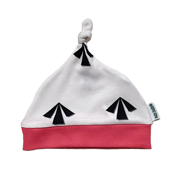 Lazy Baby Arrow Hat Pink  / White