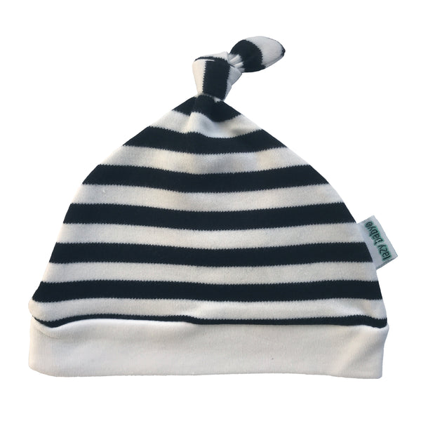 Lazy Baby Hat Black / White