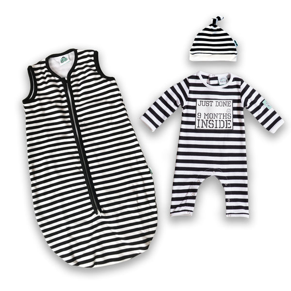 Lazy Baby® Just Done 9 Months Inside® Coming Home bundle Sleeping Bag and Baby Grow - Baby Shower Gift - Baby Announcement - Lazy Baby