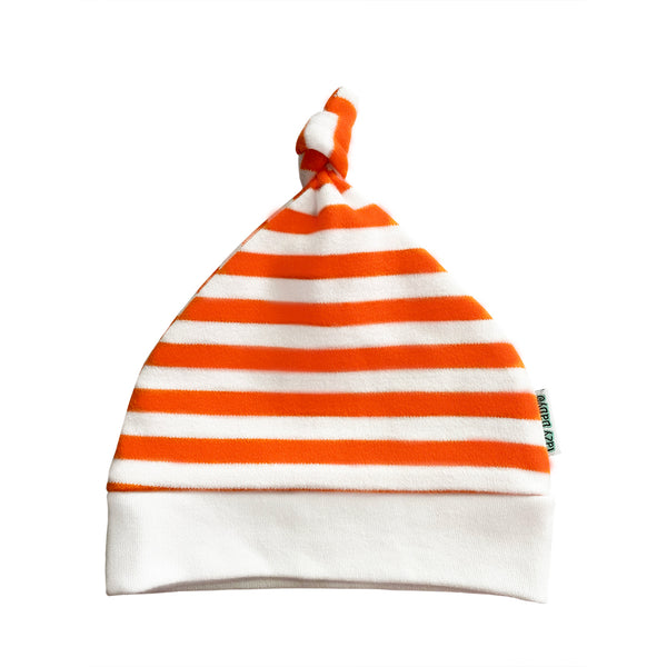 Lazy Baby Hat Orange / White