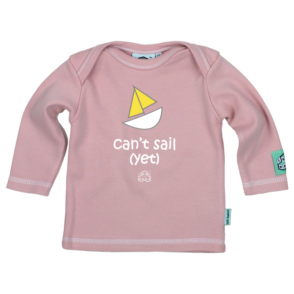 Lazy Baby Gift for Sailers - Can't Sail Yet Pink T Shirt