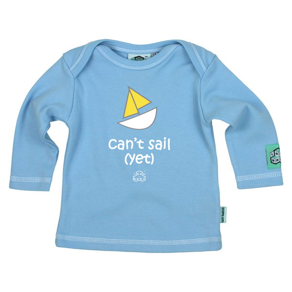 Lazy Baby Gift for Sailers - Can't Sail Yet Blue T Shirt