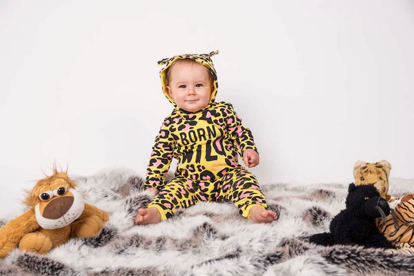 Baby Animal Fancy Dress Outfit - Born to be Wild Leopard Baby Grow - Lazy Baby