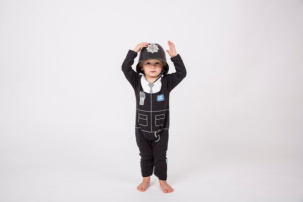Lazy Baby Fancy Dress Outfit - Police Baby baby grows and sleepsuits by Lazy Baby® - Lazy Baby