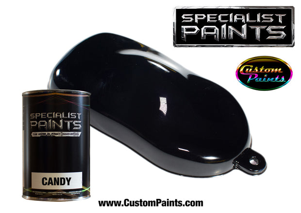 Candy Black over Silver Metallic Base