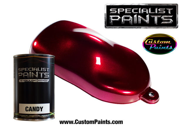 Candy Cherry over Silver Metallic Base