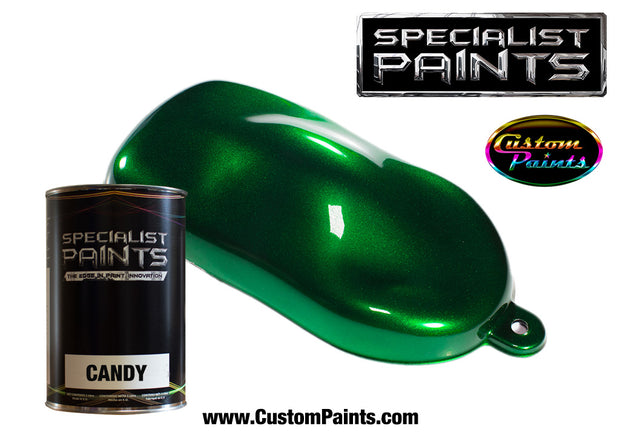 Candy Emerald over Silver Metallic Base