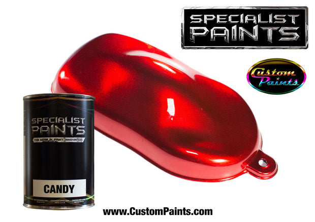 Candy Red over Silver Metallic Base