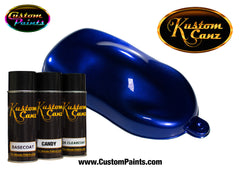 Candy Royal Blue over Silver Metallic Base Aerosol