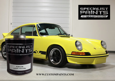 Porsche: Light Yellow - Paint Code 117