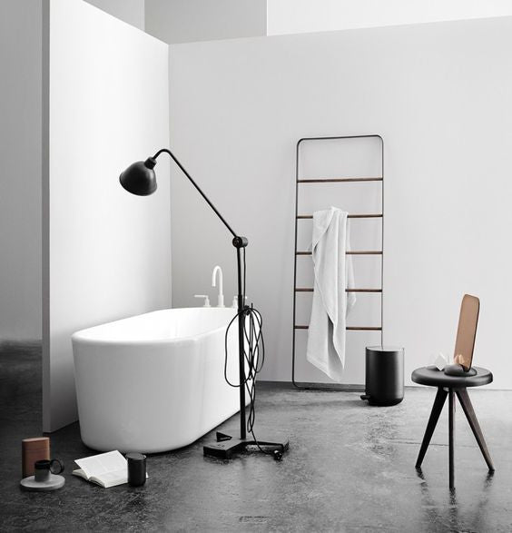 Floor Mirror and Towel Ladder a modern pair by Norm Architects